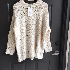 Zara oversized cream sweater size M with tag